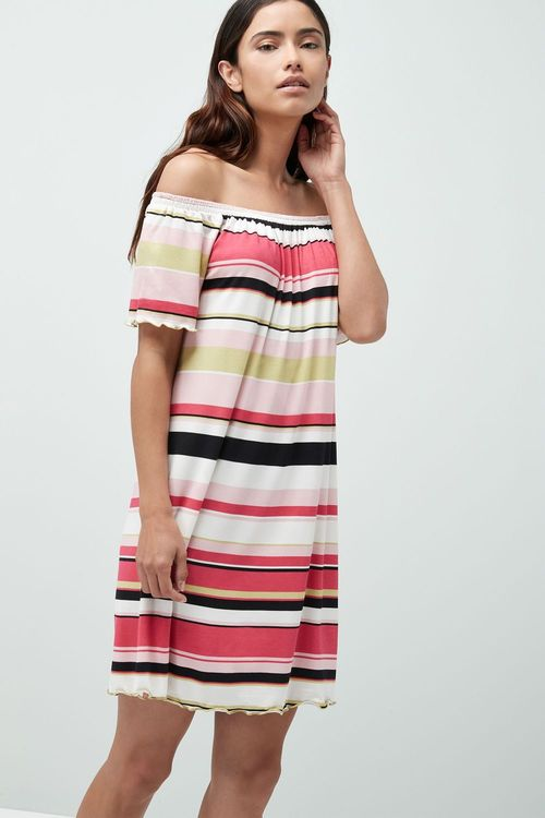 Next Stripe Bardot Dress - Tall