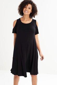 Next Maternity Cold Shoulder Dress