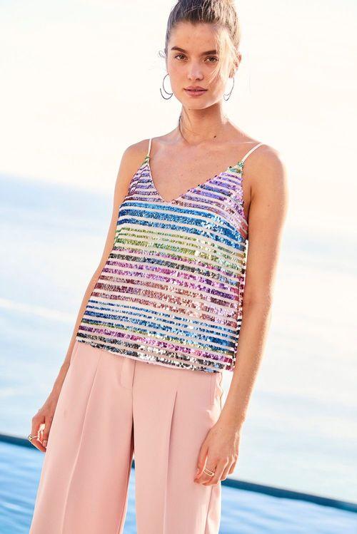 Next Stripe Sequin Cami