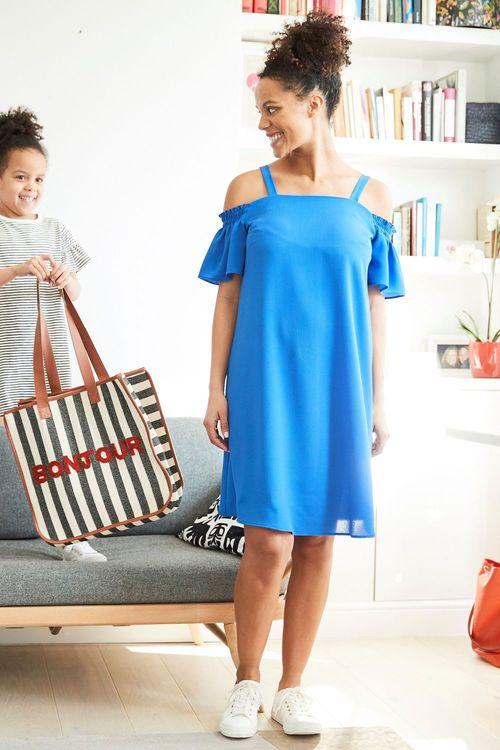 Next Maternity Cold Shoulder Strap Dress