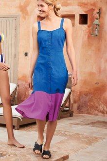 Next Colourblock Button Through Dress