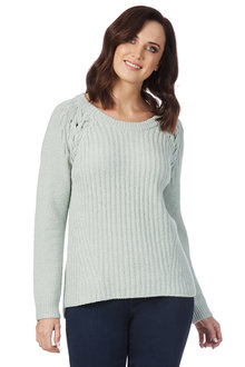 Rockmans Long Sleeve Scoop Neck Soft Touch Knit
