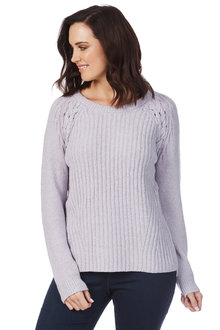 Rockmans Long Sleeve Scoop Neck Soft Touch Knit - 210922