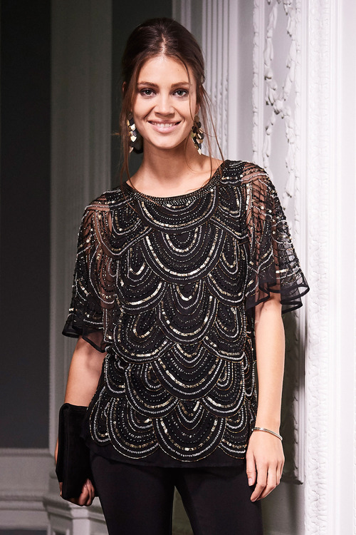 Together Beaded Scallop Top