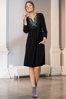 European Collection Embroidery Tunic Dress - 210928