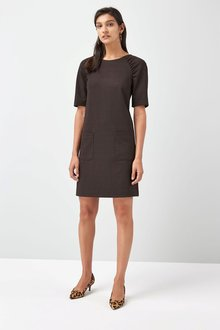 Next Ponte Shift Dress - Petite - 210985