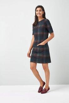 Next Ponte Shift Dress - Petite