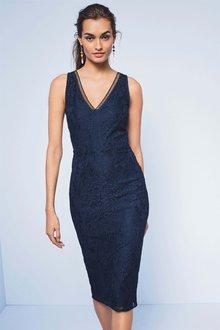 Next Lace Bodycon Dress - Petite