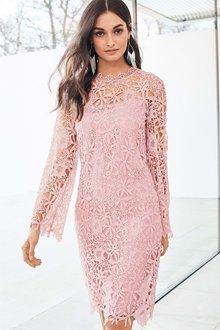 Next Lace Shift Dress - Petite