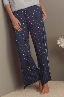 Next Wide Leg Ditsy Trousers