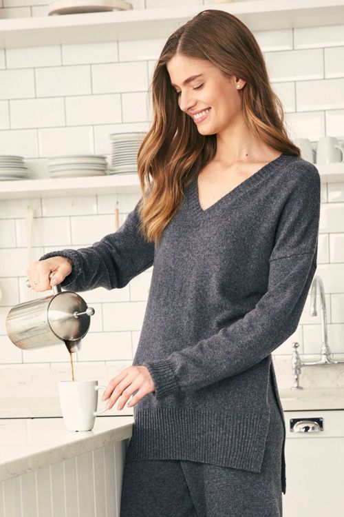 Next V-Neck Jumper With Cashmere