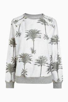 Next Palm Print Sweatshirt