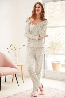 Next Long Sleeve Waffle Pyjamas - Tall