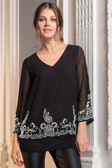 Together Embellished Hem Top