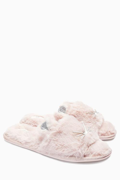 Next Faux Fur Cat Sliders