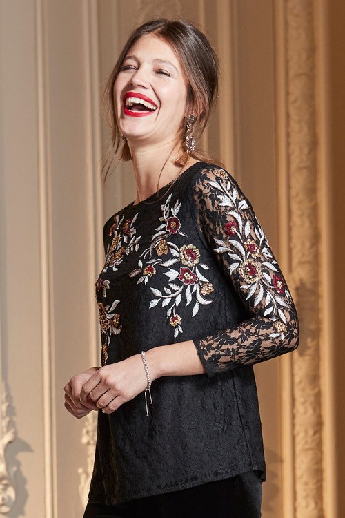 Together Lace Embroidered Top