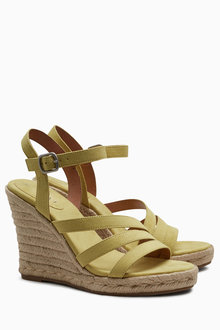 Next High Asymmetric Espadrille Wedges
