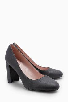Next Block Heel Court Shoes
