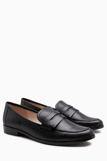 Next Leather Penny Loafers