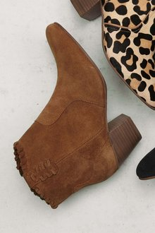 Next Suede Western Ankle Boots