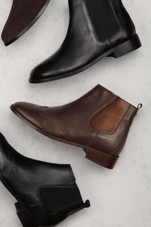 Next Forever Comfort Brogue Detail Chelsea Boots