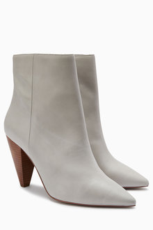 Next Signature Cone Heel Ankle Boots