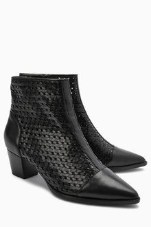 Next Weave Ankle Boots