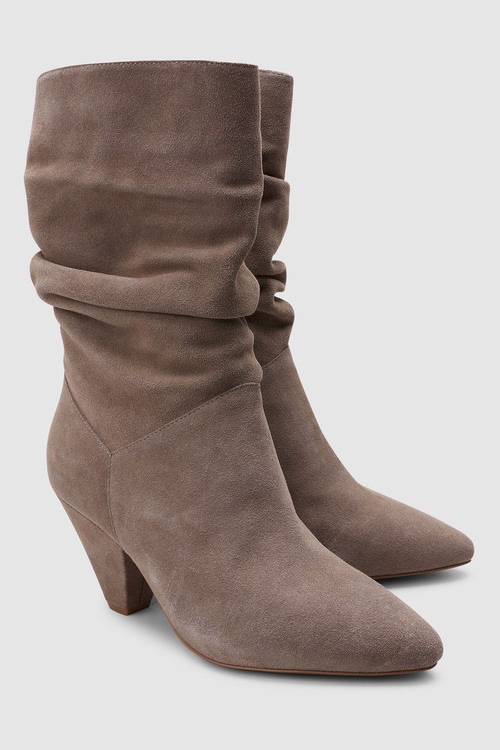 Next Signature Cone Heel Slouch Boots