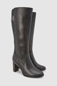 Next Block Heel Knee High Boots