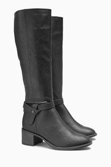 Next Long Zip Boots