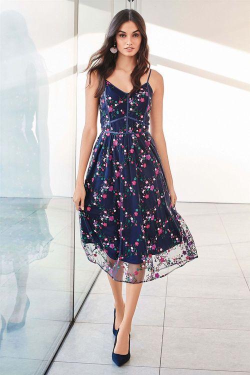 Next Embroidered Cami Dress Online | Shop EziBuy