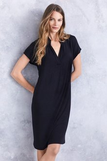 Next Sleeveless Drape Front Dress
