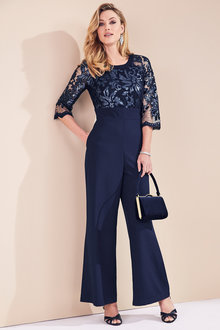 Kaleidoscope Sequin Lace Jumpsuit - 211325