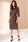 Kaleidoscope Tie Front Dress