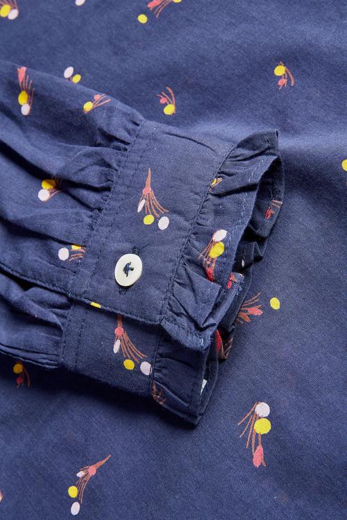 Next Printed Grandad Collar Shirt