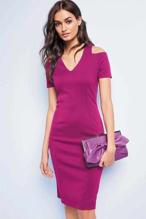 Next Magenta Bodycon Dress