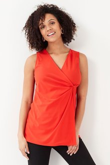 Next Maternity Twist Front Sleeveless Top