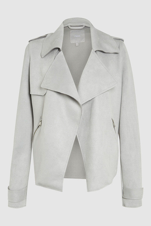 Next Suedette Waterfall Jacket - Tall