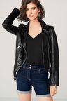 Next Leather Biker Jacket - Petite