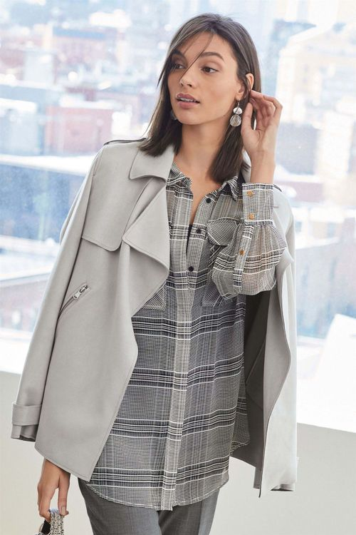 Next Suedette Waterfall Jacket - Petite