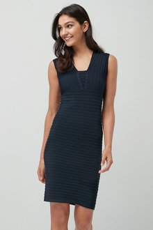 Next Rib Bodycon Dress - Petite