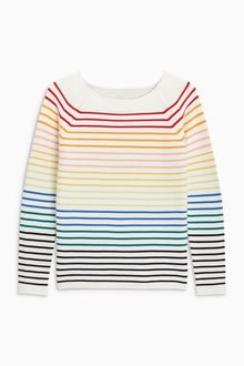 Next Cotton Stripe Sweater - Petite