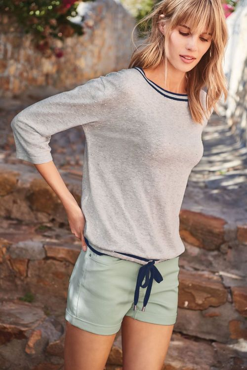 Next Drawstring Textured Sweater