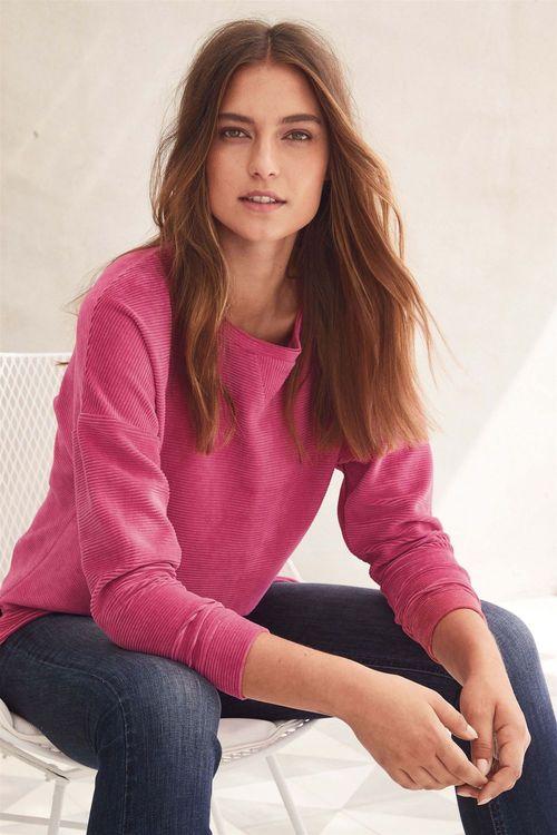 Next Rib Velour Sweater