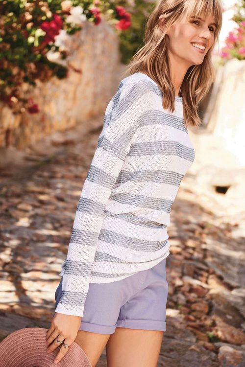 Next Knit Look Stripe Top