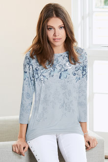 Together Placement Print Jersey Top