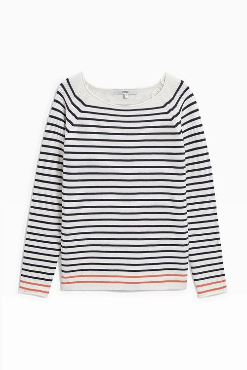 Next Cotton Stripe Sweater