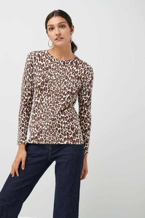 Next Neutral Animal Printed Sweater