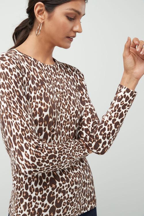 Next Neutral Animal Printed Sweater