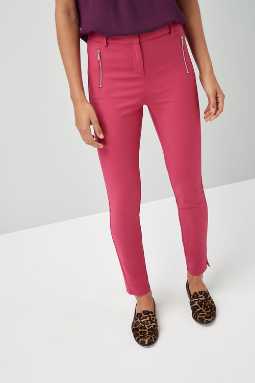 Next Skinny Zip Trousers - Tall